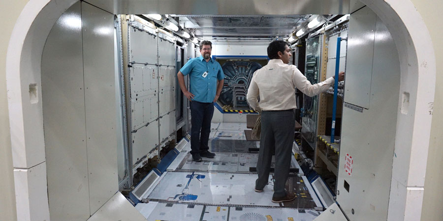 Installing AllTraq in the ISS mockup.